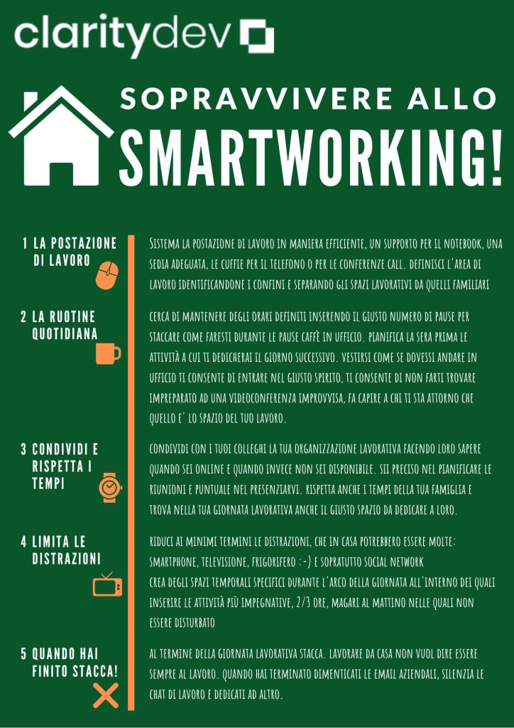 Breve guida per sopravvivere allo SmartWorking